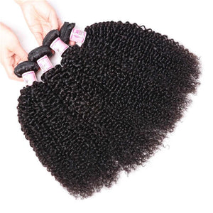 Indian Virgin Hair Weave 4 Bundles Kinky Curly Hair 100% Human Hair