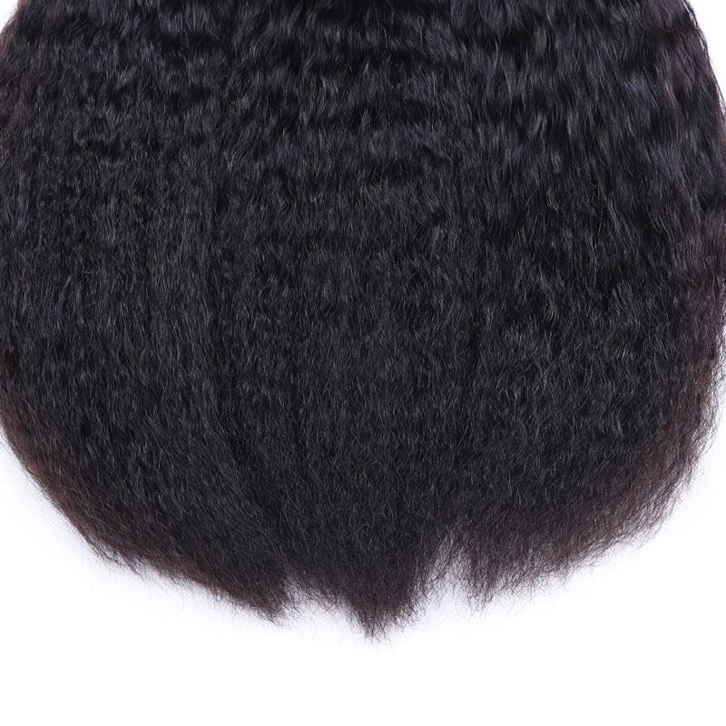 Brazilian Virgin Hair Weave 3 Bundles Kinky Straight Hair 100% Human Hair