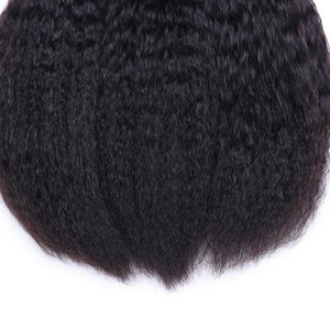 Indian Virgin Hair Weave 3 Bundles Kinky Straight Hair 100% Human Hair