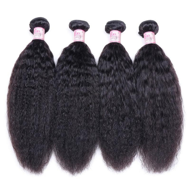 Brazilian Virgin Hair Weave 4 Bundles Kinky Straight Hair