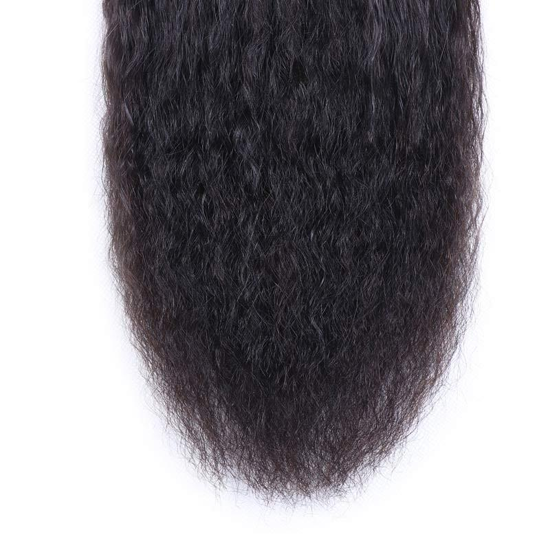 Malaysian Virgin Hair Weave Bundles Kinky Straight Hair 100% Human Hair
