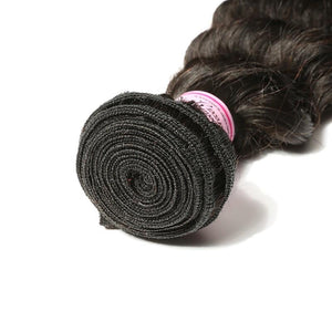 Indian Virgin Hair Weave 3 Bundles Loose Deep Hair 100% Human Hair