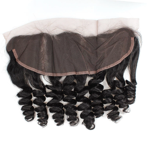 Malaysian Hair 3 Bundles with Lace Frontal Loose Wave Hair 100% Human Hair