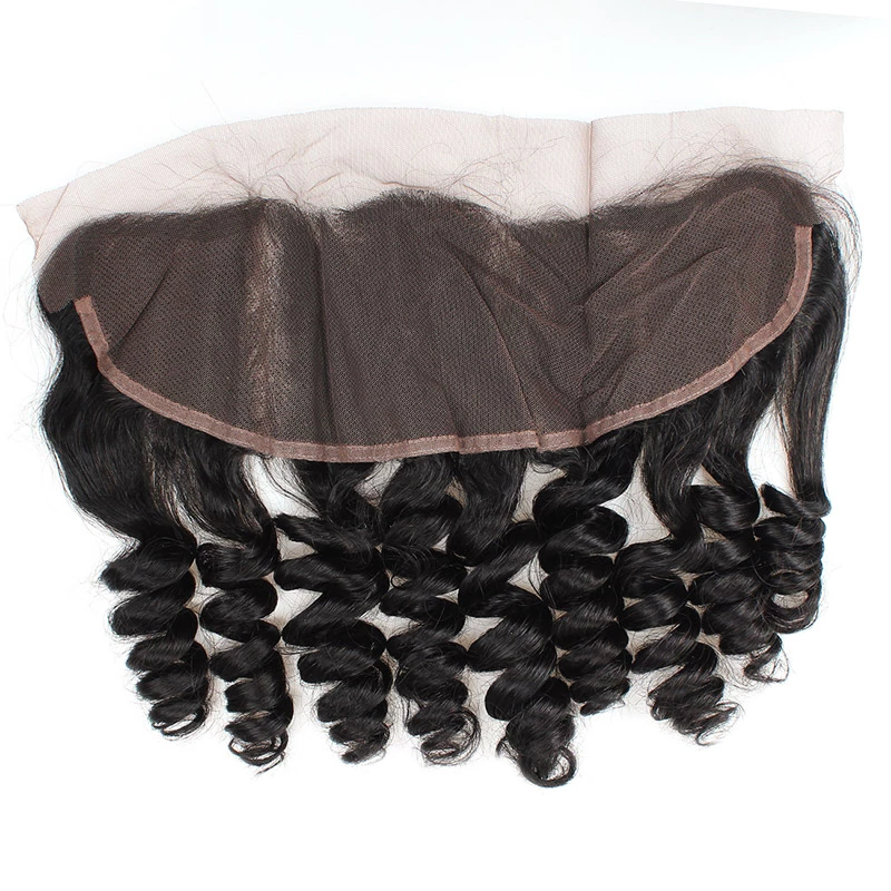 Indian Hair 3 Bundles with Lace Frontal Loose Wave Hair 100% Human Hair