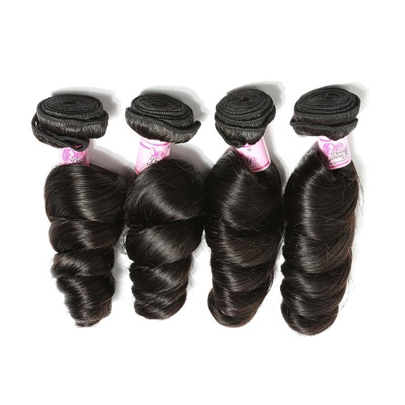 Malaysian Virgin Hair Weave 4 Bundles Loose Wave Hair 100% Human Hair