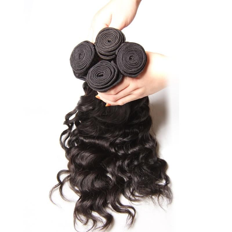 Peruvian Virgin Hair Weave 3 Bundles Natural Wave Hair 100% Human Hair