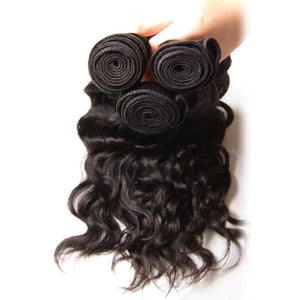 Brazilian Virgin Hair Weave 3 Bundles Natural Wave Hair 100% Human Hair