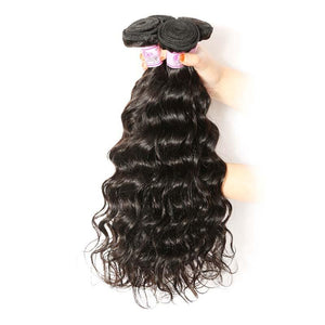 Peruvian Virgin Hair Weave 4 Bundles Natural Wave Hair 100% Human Hair