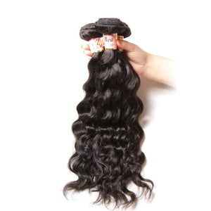 Brazilian Hair 4 Bundles with Lace Closure Natural Wave Hair 100% Human Hair
