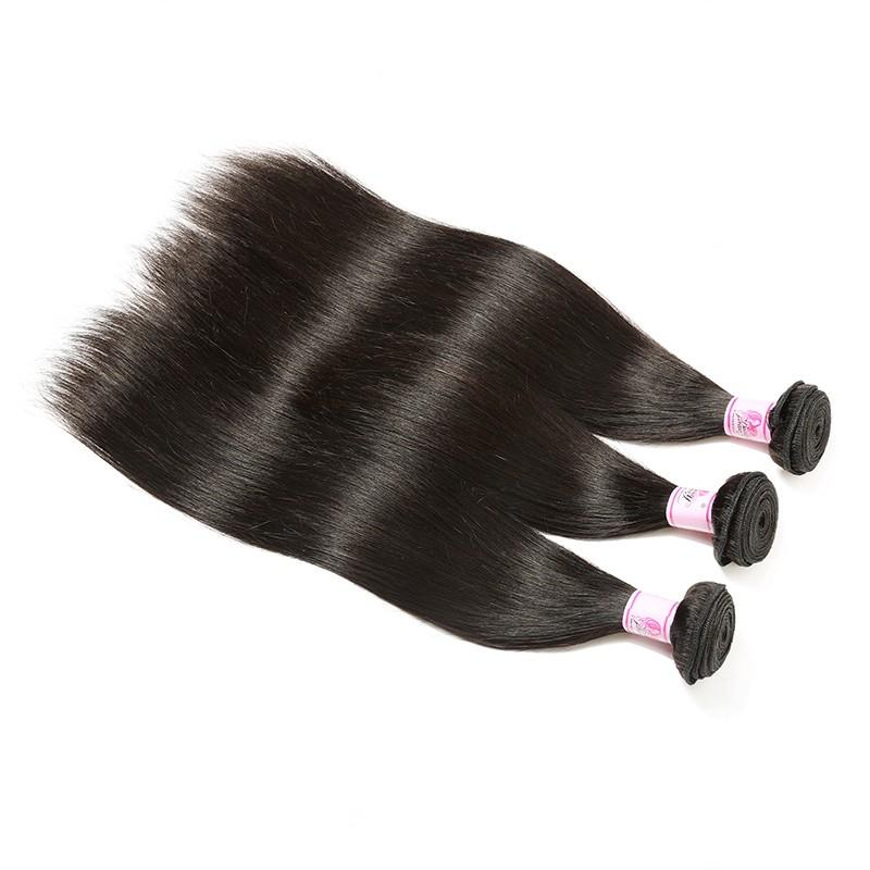 Indian Virgin Hair Weave 3 Bundles Straight Hair 100% Human Hair