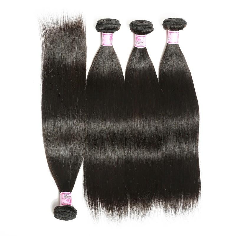 Indian Virgin Hair Weave 4 Bundles Straight Hair 100% Human Hair