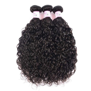 Indian Virgin Hair Weave 3 Bundles Water Wave Hair