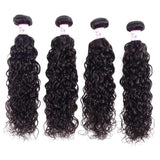 Indian Virgin Hair Weave 4 Bundles Water Wave Hair 100% Human Hair