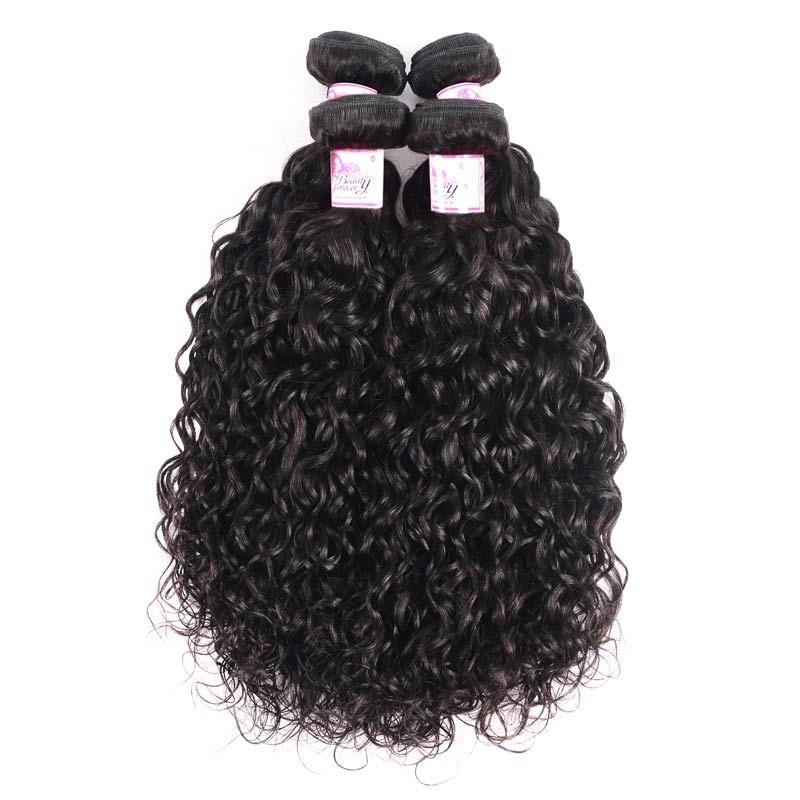 Malaysian Virgin Hair Weave 4 Bundles Water Wave Hair 100% Human Hair