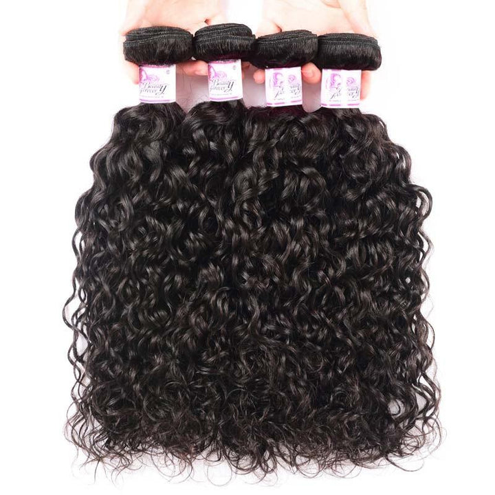 Peruvian Virgin Hair Weave 4 Bundles Water Wave Hair