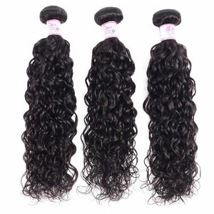 Brazilian Virgin Hair Weave Bundles Water Wave Hair 100% Human Hair