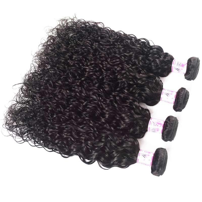 Peruvian Virgin Hair Weave Bundles Water Wave Hair 100% Human Hair