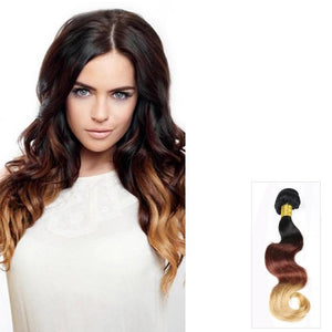 16 – 26 Inch Ombre Human Remy Hair Extensions Body Wave (#1B/#33/#27)