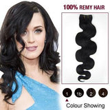 16 – 26 Inch Pre-Colored Human Remy Hair Extensions Body Wave (#1 Jet Black)