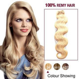 16 – 26 Inch Pre-Colored Human Remy Hair Extensions Body Wave (#24 Medium Blonde)