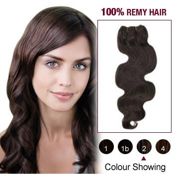 16 – 26 Inch Pre-Colored Human Remy Hair Extensions Body Wave (#2 Dark Brown)