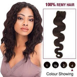 16 – 26 Inch Pre-Colored Human Remy Hair Extensions Body Wave (#4 Medium Brown)
