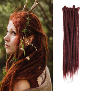 Dreadlock Extensions(#99J Burgundy)