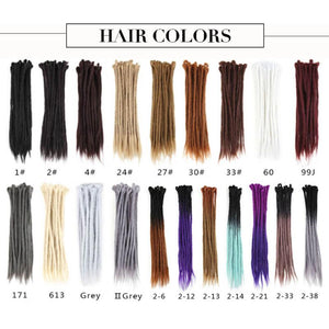 20 Inch Dreadlock Hair Extensions Synthetic Dread Extensions(#99J Burgundy)