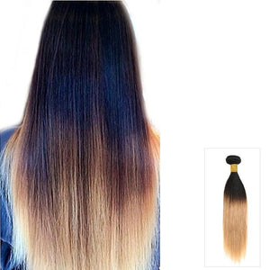 16 – 26 Inch Ombre Human Remy Hair Extensions Straight (#1B/#27)