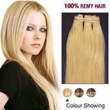 16 – 26 Inch Pre-Colored Human Remy Hair Extensions Straight (#24 Medium Blonde)