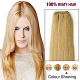 16 – 26 Inch Pre-Colored Human Remy Hair Extensions Straight (#27 Strawberry Blonde)