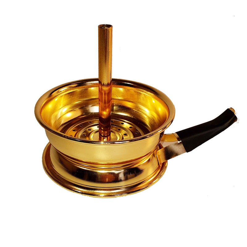 Gold Chimney Charcoal Holder (Incl. Handle) | Shisha On Demand
