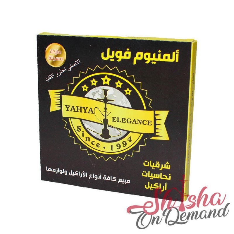 Yahya Aluminium Foil - 50 Pieces (Pre-cut and Extra Strength) | Shisha On Demand