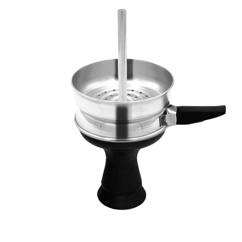 Silver Chimney Charcoal Holder Bundle (Incl. Handle + Silicone Head) | Shisha On Demand