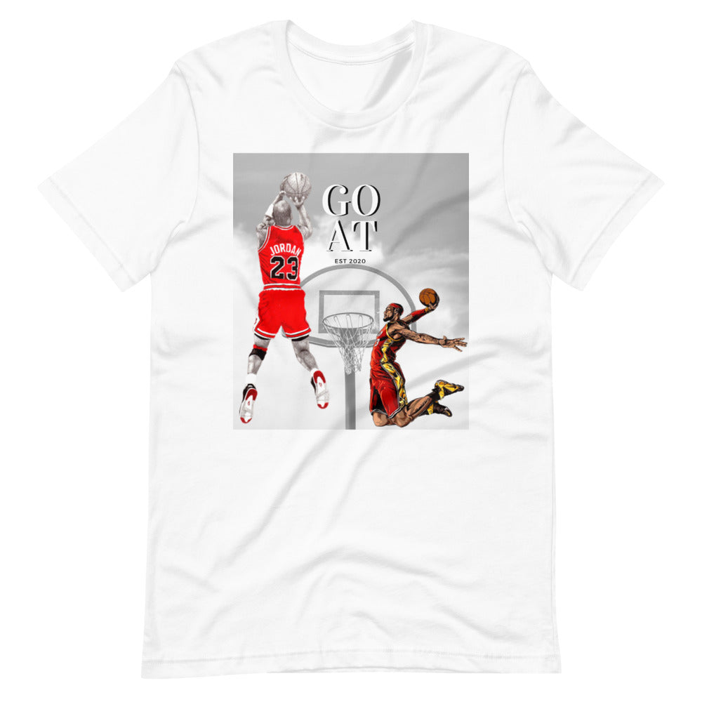 MJ VS LEBRON Basketball T-Shirt  Vintage