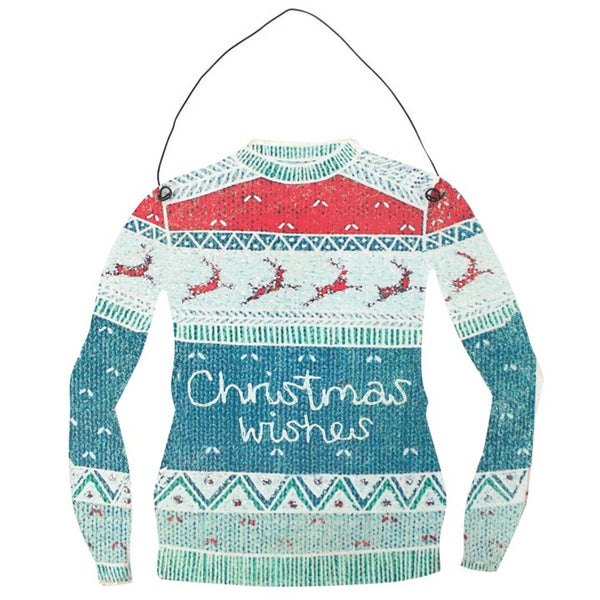 Christmas Wishes Jumper Hanging Decoration Image