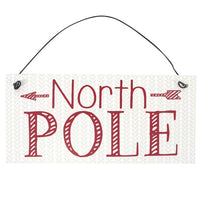 Metal North Pole Sign Image
