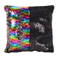Rainbow Sequin Cushion Image