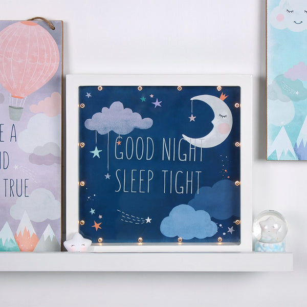 Good Night Sleep Tight LED Box Frame Image