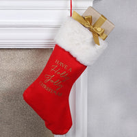 Red Christmas Stocking Image