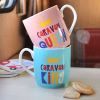 Set of 2 Caravan King and Queen Mugs Image