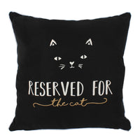 Black Reserved for the Cat Cushion Image
