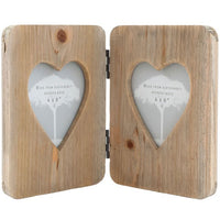 Driftwood Double Heart Photo Frame Image