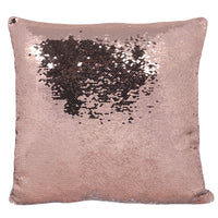 Rose Gold Reversible Sequin Cushion Image