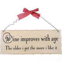 Wine Improves With Age Hanging Sign Image