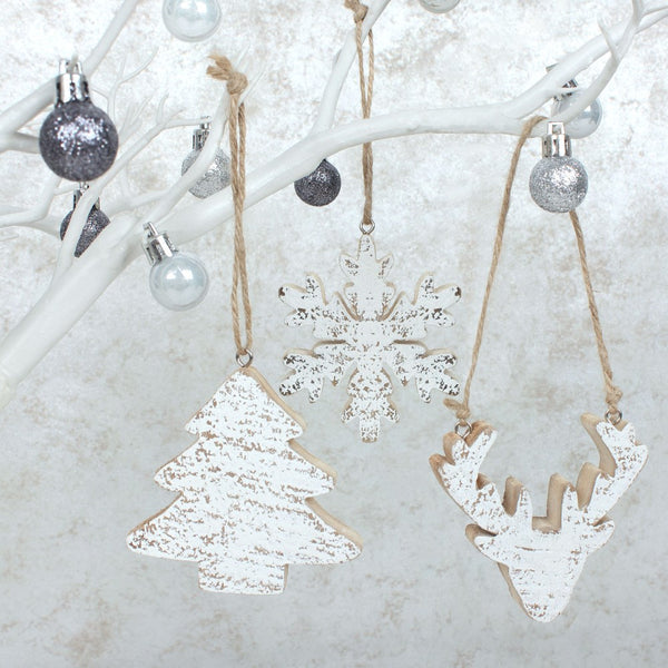 Trio of Wooden Hanging Decorations Image