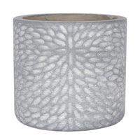 Grey Textured Plant Pot Image