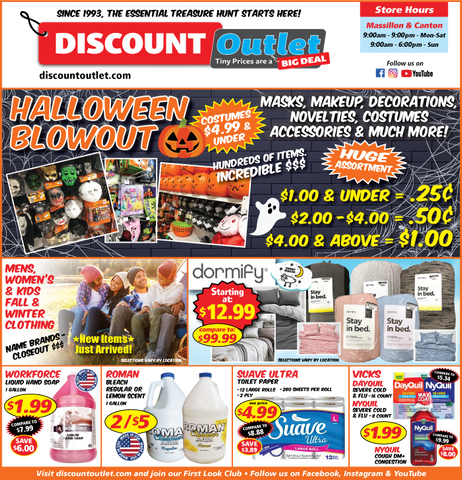 Discount Outlet Weekly Ad September 17 2021