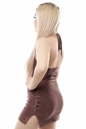 Tia Dress- Brown