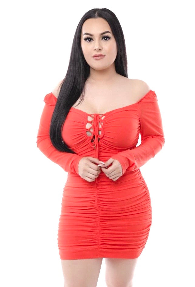 Jenny Dress- Tomato Red